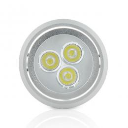 Foco Downlight LED de Superficie Aluminio 3W 300Lm 30.000H - Imagen 2