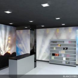 Plafón LED Cuadrado 180Mm 12W 860Lm 50.000H Niquel Satinado - Imagen 2