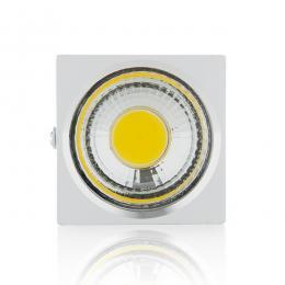 Foco Downlight LED de Superficie COB Cuadrado Blanco 57X57Mm 3W 270Lm 30.000H - Imagen 2