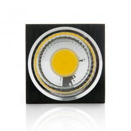 Foco Downlight  LED de Superficie COB Cuadrado Negro 57X57Mm 3W 270Lm 30.000H - Imagen 2