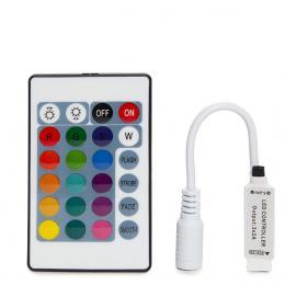 Controlador Mini Tira LED RGB Mando a Distancia 12VDC ► 72W - Imagen 4