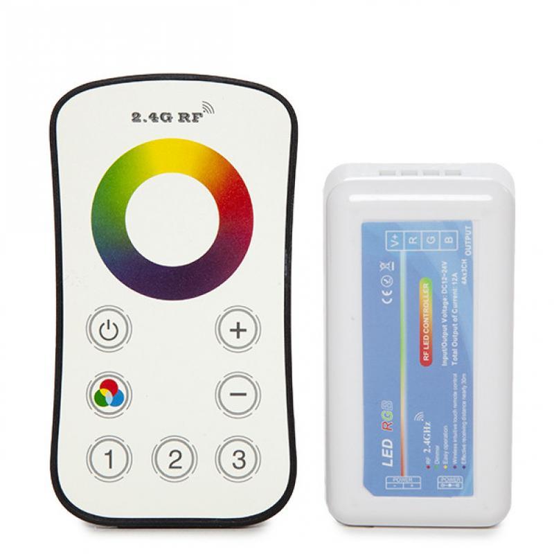 Controlador 3 Zonas 2,4G Tira RGB Mando a Distancia 12-24VDC ► 144/288W - Imagen 5