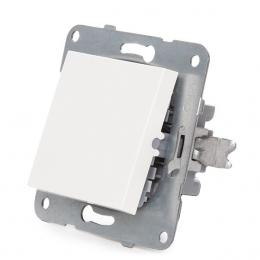 Interruptor Panasonic Karre 10A 250V/Bastidor Metálico con Garras/Tecla Blanca - Imagen 3