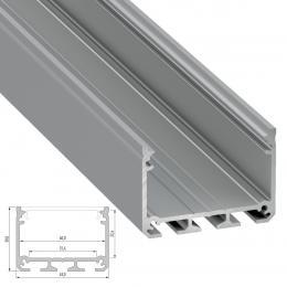 Perfil Aluminio Tipo iLEDO 2,02M - Imagen 2