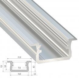 Perfíl Aluminio Tipo B 2,02M