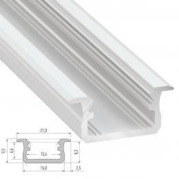Perfíl Aluminio Tipo B 2,02M - Imagen 2