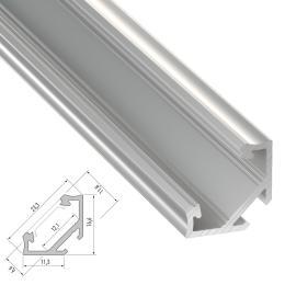 Perfíl Aluminio Tipo C 2,02M