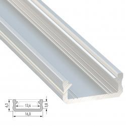 Perfíl Aluminio Tipo D 2,02M - Imagen 1