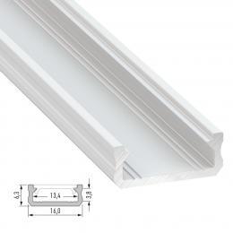 Perfíl Aluminio Tipo D 2,02M - Imagen 2
