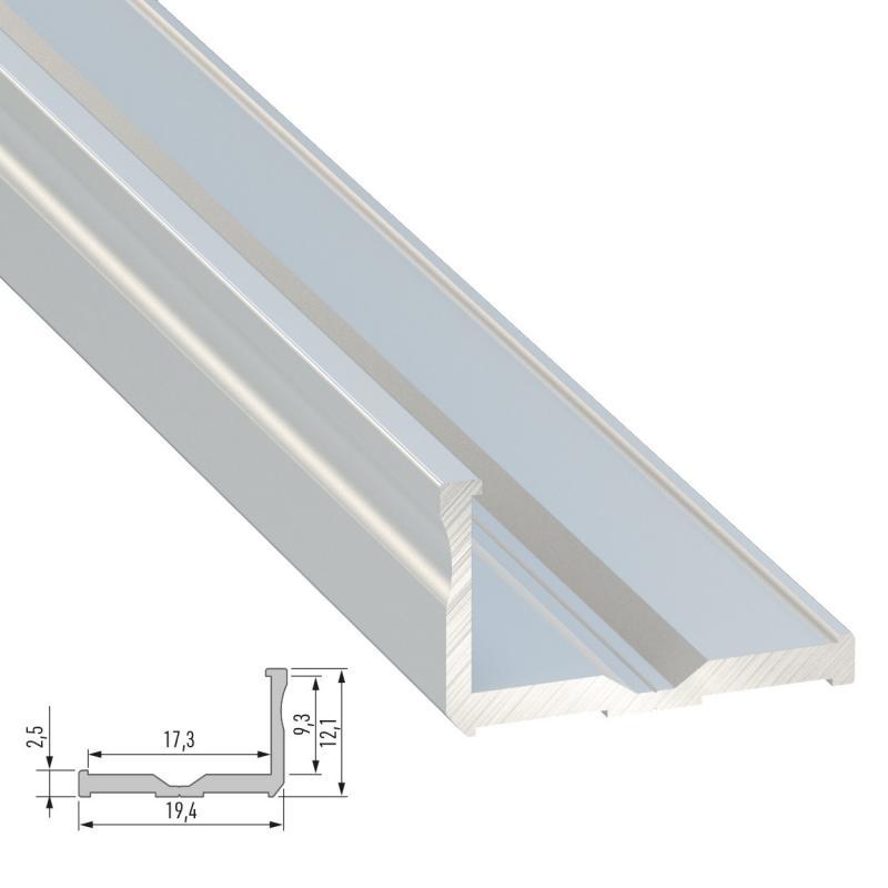 Perfíl Aluminio Tipo E 2,02M - Imagen 1