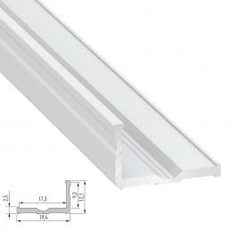 Perfíl Aluminio Tipo E 2,02M - Imagen 2