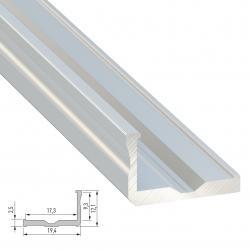 Perfíl Aluminio Tipo F 2,02M - Imagen 1