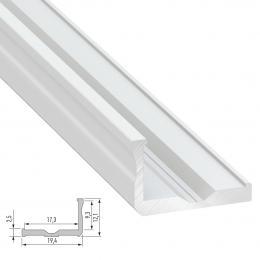 Perfíl Aluminio Tipo F 2,02M - Imagen 2