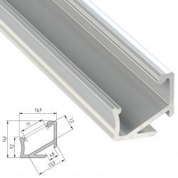 Perfíl Aluminio Tipo H 2,02M - Imagen 1