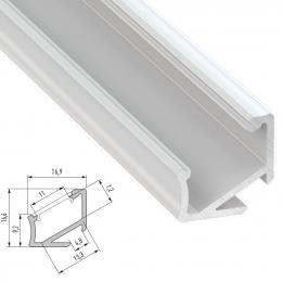 Perfíl Aluminio Tipo H 2,02M - Imagen 2