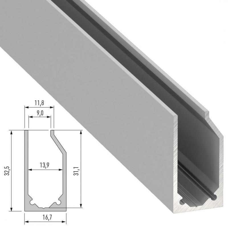 Perfíl Aluminio Tipo I6 2,02M - Imagen 1