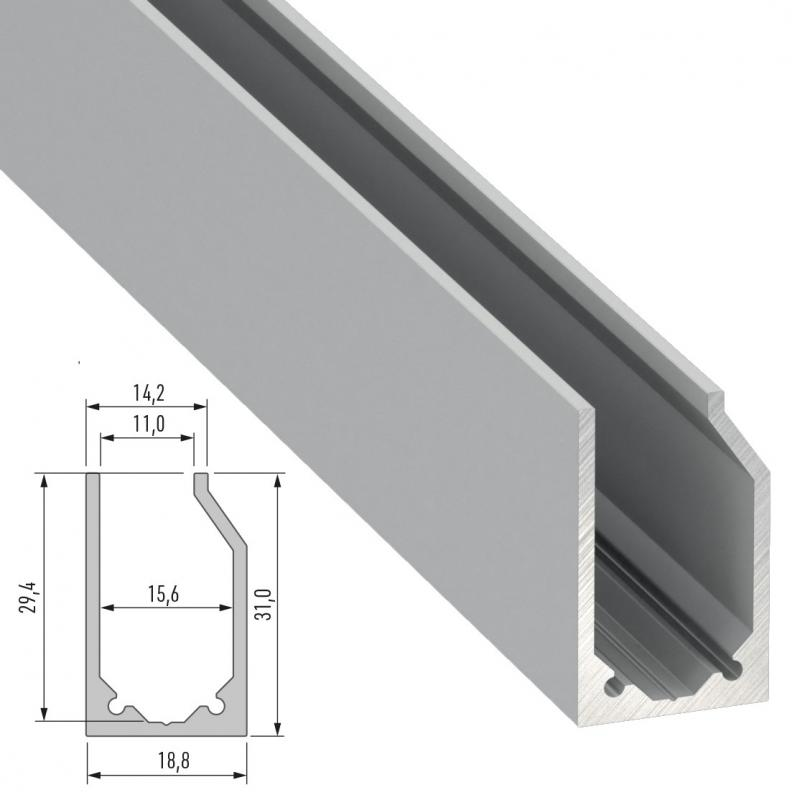 Perfíl Aluminio Tipo I10 2,02M - Imagen 1