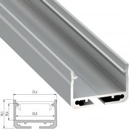 Perfíl Aluminio Tipo SILEDA 2,02M - Imagen 2