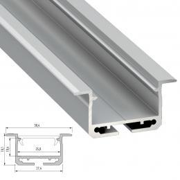 Perfíl Aluminio Tipo inSILEDA 2,02M - Imagen 2