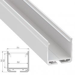 Perfíl Aluminio Tipo DILEDA 2,02M - Imagen 1