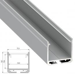 Perfíl Aluminio Tipo DILEDA 2,02M - Imagen 2