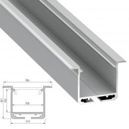 Perfíl Aluminio Tipo inDILEDA 2,02M - Imagen 2