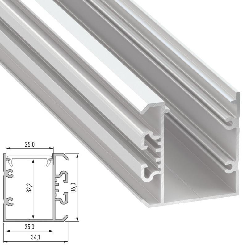 Perfil Aluminio Tipo UNICO 2,02M - Imagen 1