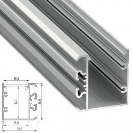 Perfil Aluminio Tipo UNICO 2,02M - Imagen 2