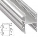 Perfil Aluminio Tipo DOPIO 2,02M