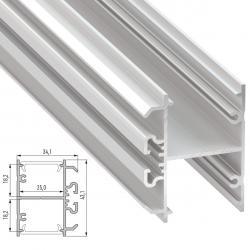 Perfil Aluminio Tipo DOPIO 2,02M - Imagen 1