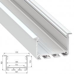 Perfil Aluminio Tipo INSO 2,02M - Imagen 1