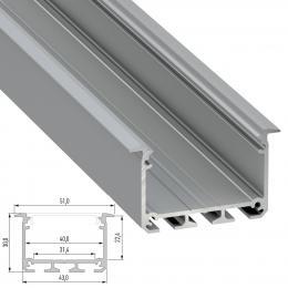 Perfil Aluminio Tipo INSO 2,02M - Imagen 2