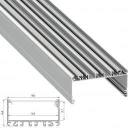 Perfil Aluminio Tipo LARGO 2,02M - Imagen 2