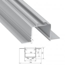 Perfíl Aluminio SUBLI 2,02M - Imagen 2