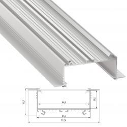 Perfíl Aluminio SORGA 2,02M - Imagen 1
