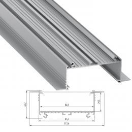 Perfíl Aluminio SORGA 2,02M - Imagen 2