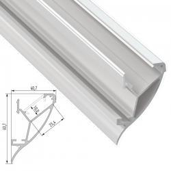 Perfíl Aluminio CONVA 2,02M