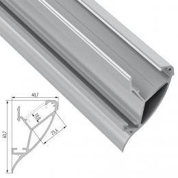 Perfíl Aluminio CONVA 2,02M - Imagen 2