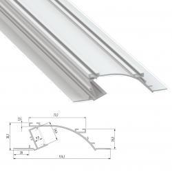 Perfíl Aluminio PERO 2,02M