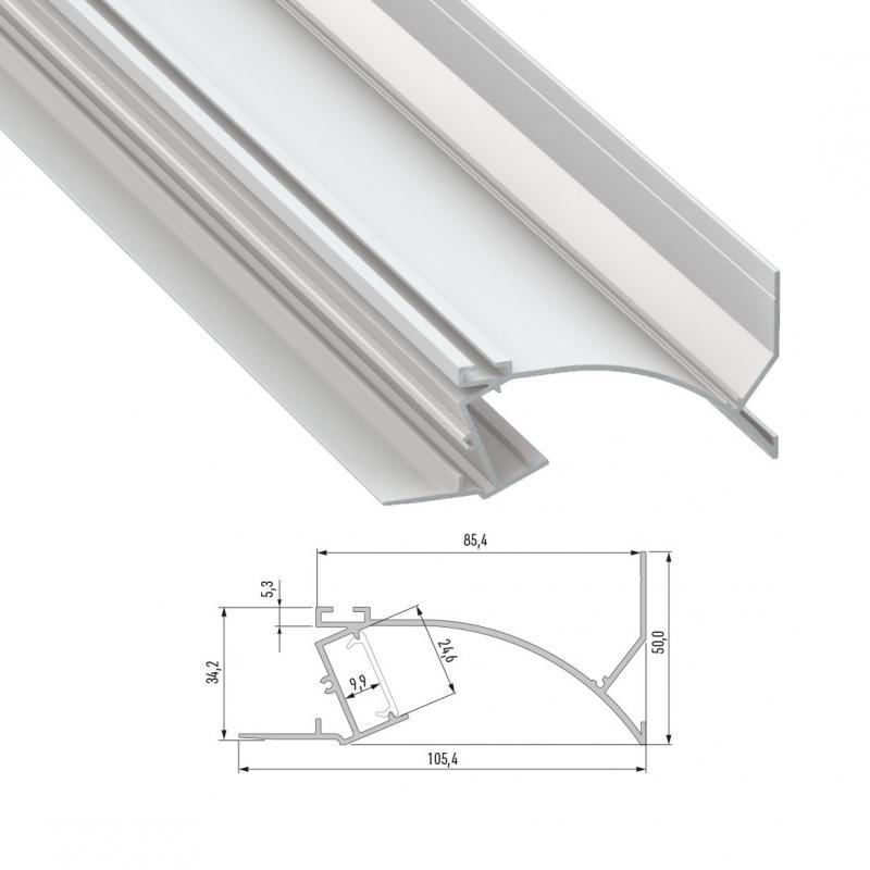 Perfíl Aluminio TOPO 2,02M - Imagen 1
