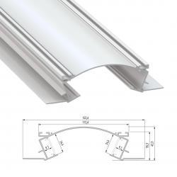 Perfíl Aluminio VEDA 2,02M