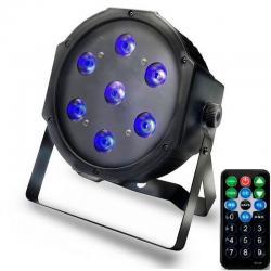Foco PAR LED 28W DMX LUZ  UV - ULTRAVIOLETA -  con mando
