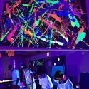 Foco PAR LED 28W DMX LUZ  UV - ULTRAVIOLETA -  con mando - Imagen 5