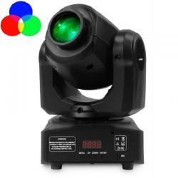 Cabeza Móvil Spot LED 10w BOSTON   Blanco + 7 Colores - 7 Gobos Fijos - DMX