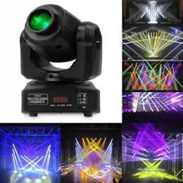 Cabeza Móvil Spot LED 10w BOSTON   Blanco + 7 Colores - 7 Gobos Fijos - DMX - Imagen 2
