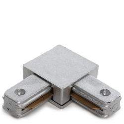 Conector 90º Carril Focos LED Alumi - Imagen 1