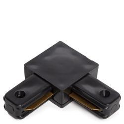 Conector 90º Carril Focos LED Negro - Imagen 1