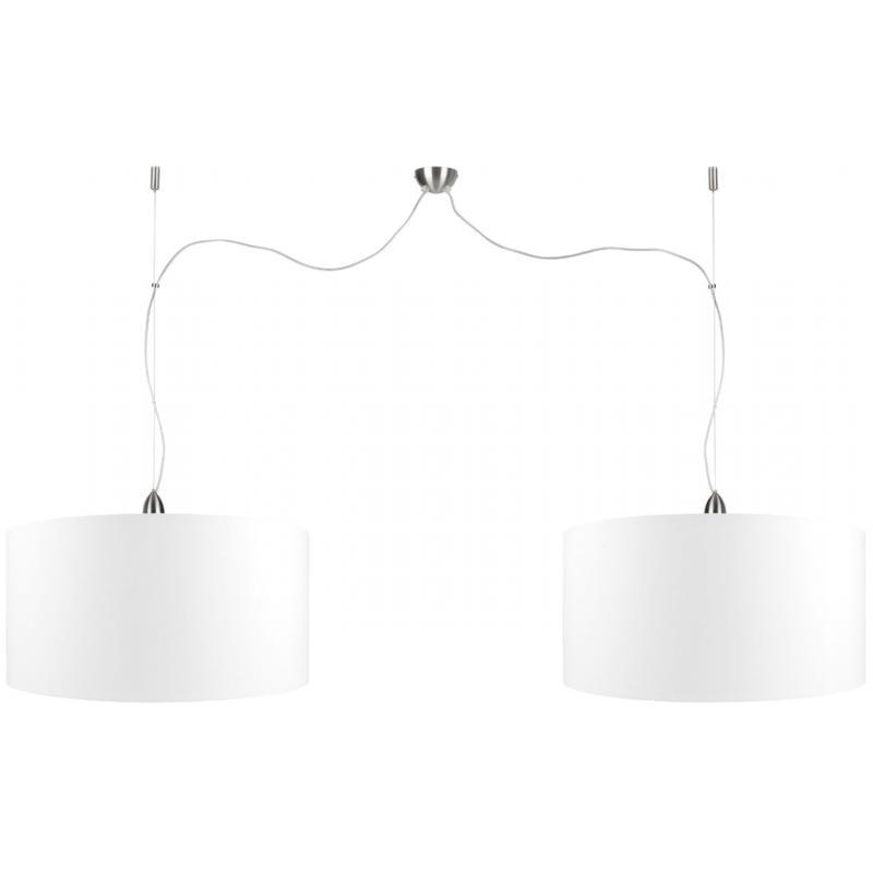 [IAR-ROME/H2/8040/A] Lámpara Suspendida Rome Niquelado 2-Pantallas Pantalla 80x40cm - Imagen 1