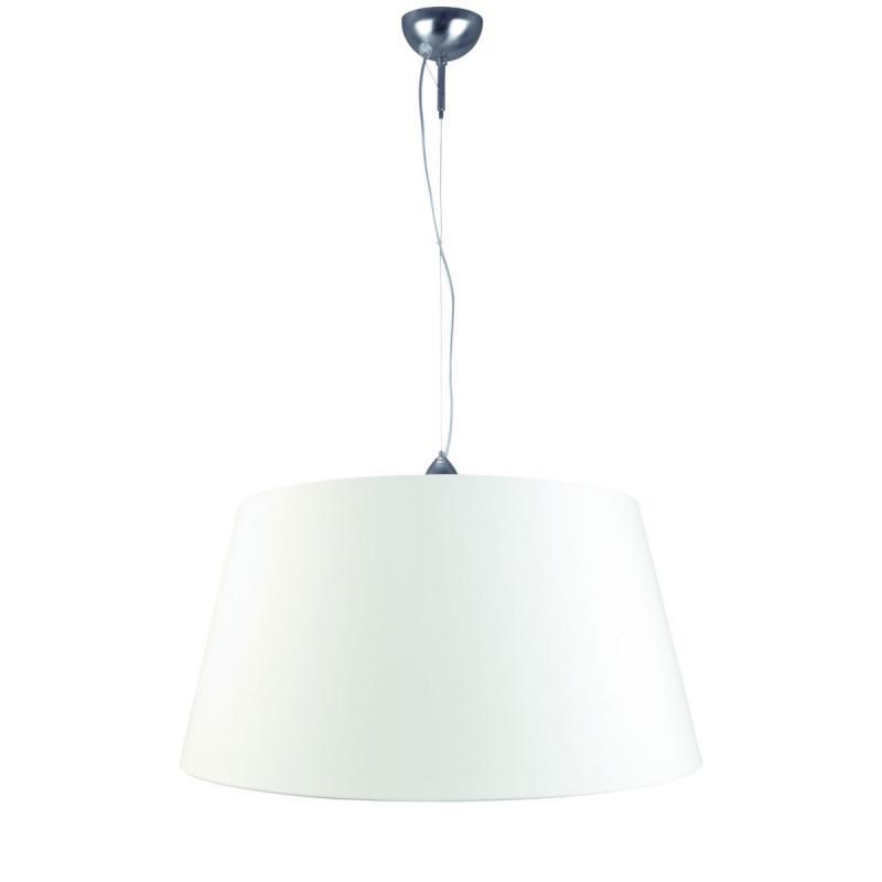 [IAR-ROME/H/372647/A] Lámpara Suspendida Rome Niquelado 2,5m/Pantalla 37x26x47cm - Imagen 1