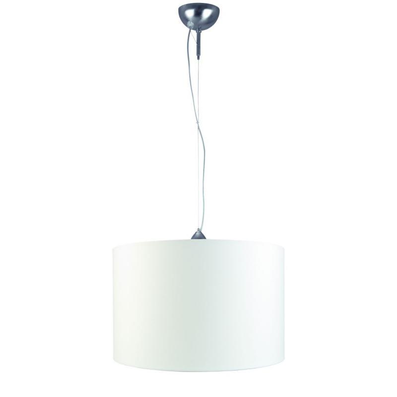 [IAR-ROME/H/4025/A] Lámpara Suspendida Rome Niquelado l.250cm/Pantalla 40x25cm - Imagen 1